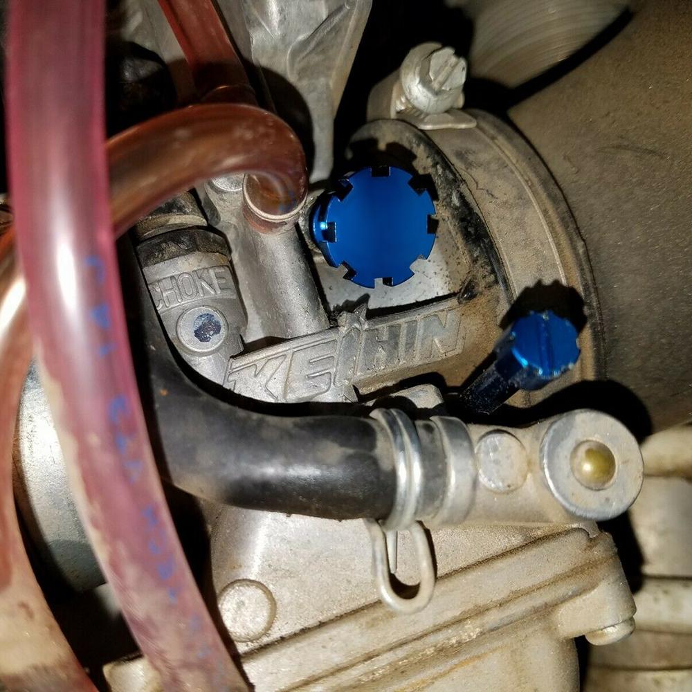 Tusk Idle Adjustment Screw Black Fits Kawasaki KX125 1988-2000